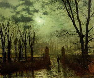 Art Prints of At the Park Gate by John Atkinson Grimshaw