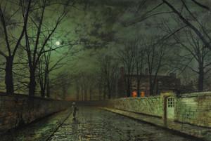 Art Prints of November II by John Atkinson Grimshaw