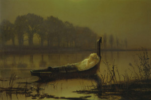 Art Prints of The Lady of Shalott by John Atkinson Grimshaw