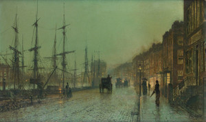 Art Prints of Glasgow Docks 1881 by John Atkinson Grimshaw