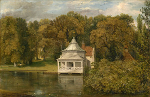 Art Prints of The Quarters behind Alresford Hall by John Constable