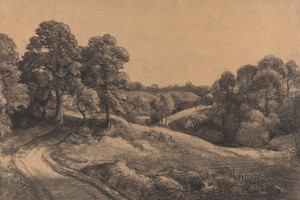 Art Prints of Wooded Slope with a Receding Road by John Constable