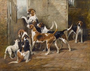 Art Prints of Waiting for the Hunt by John Emms