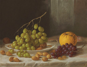 Art Prints of Still Life with Fruit and Nuts by John F. Francis