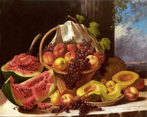 Art Prints of Still Life with an Abundance of Fruit by John F. Francis