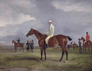 Art Prints of Clinker with Captain Horatio Ross Up by John Ferneley