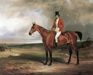 Art Prints of Sir James Bowell on Plunder, a Bay Hunter by John Ferneley