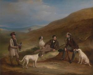 Art Prints of Edward Horner and His Brother George Grouse Shooting by John Ferneley