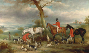 Art Prints of Thomas Wilkinson with the Hurworth Foxhounds by John Ferneley