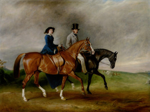 Art Prints of Tertius Paget and Wife Geraldine on Satan and Jessica by John Ferneley