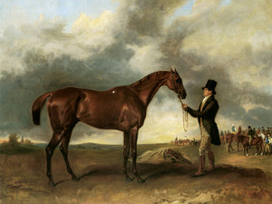 Art Prints of Saint Giles, Winner of the 1832 Derby with Trainer by John Ferneley