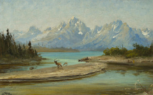 Art Prints of Grand Teton Mountains, Wyoming by John Fery