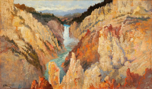 Art Prints of Lower Yellowstone Falls by John Fery