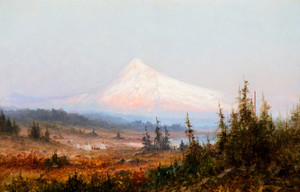 Art Prints of Indian Encampment at Mt. Hood by John Fery