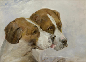 Art Prints of Coupled Foxhounds by John Frederick Herring