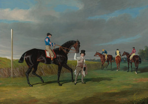 Art Prints of Preparing to Start for Doncaster Gold Cup by John Frederick Herring