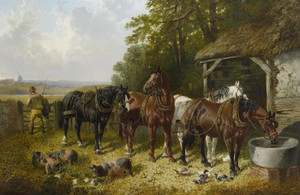 Art Prints of The End of the Long Day by John Frederick Herring