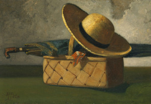 Art Prints of Still Life with Market, Basket and Hat by John Frederick Peto