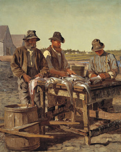 Art Prints of Cleaning Fish by John George Brown