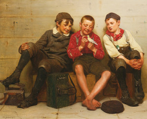 Art Prints of A Great Find by John George Brown
