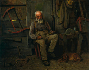 Art Prints of Boat Builder by John George Brown