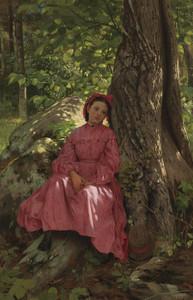 Art Prints of Resting in the Woods by John George Brown