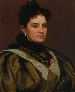 Art Prints of The Artist's Wife by John George Brown