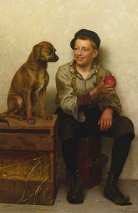 Art Prints of Teasing the Pup by John George Brown