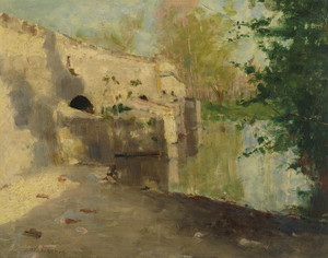 Art Prints of The Old Bridge by John Henry Twachtman