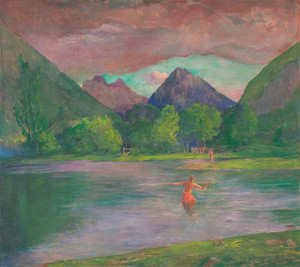 Art Prints of The Entrance to the Tautira River by John La Farge