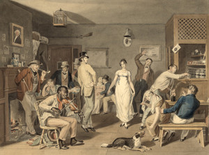 Art Prints of Barroom Dancing, 1820 (22808L) by John Lewis Krimmel