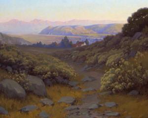 Art Prints of Looking down River by John Marshall Gamble