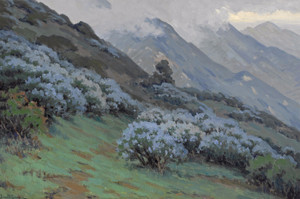 Art Prints of Morning Mists, Wild Lilac by John Marshall Gamble