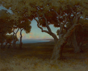 Art Prints of Twilight, Hope Ranch Santa Barbara by John Marshall Gamble