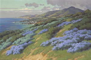 Art Prints of Wild Heliotrope near Laguna Beach by John Marshall Gamble