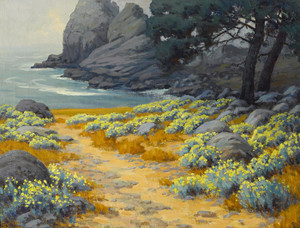 Art Prints of Yellow Wild Buckwheat at Point Lobos by John Marshall Gamble