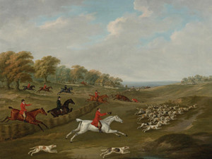 Art Prints of The Duke of Beaufort's Hunt in Full Cry by John Nost Sartorius