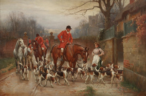 Art Prints of Hunting Scene by John Sanderson Wells