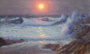 Art Prints of Sunset on the Cornish Coast by John Sanderson Wells