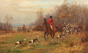 Art Prints of The Hunt at the Edge of the Copse by John Sanderson Wells