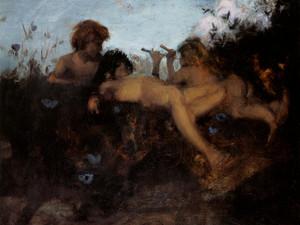 Art Prints of A Summer Idyll by John Singer Sargent