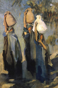 Art Prints of Bedouin Women Carrying Water jugs by John Singer Sargent