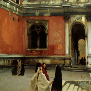 Art Prints of Campo Behind the Scuola de san Rocco by John Singer Sargent