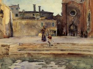 Art Prints of Campo dei Frari, Venice by John Singer Sargent
