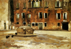 Art Prints of Campo Sant' Agnese, Venice by John Singer Sargent