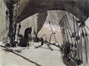 Art Prints of Deck of a Ship in Moonlight by John Singer Sargent