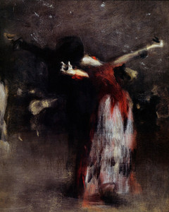 Art Prints of Detail of the Study for the Spanish Dance by John Singer Sargent