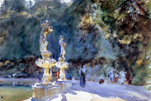 Art Prints of Florence Fountain, Boboli Gardens by John Singer Sargent