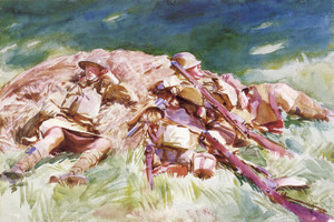 Art Prints of Highlanders Resting at the Front by John Singer Sargent