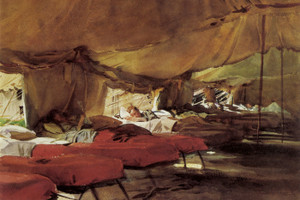 Art Prints of Interior of a Hospital Tent by John Singer Sargent